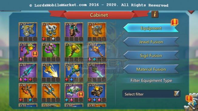 #452 All Devices Account 347M II 189M Research II 5M4 Troop II 310K Gems II 68K Holy Stars II 209$