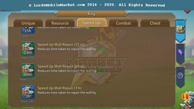 477 All Devices Account 240M II 164M Research II 183K Gems II Speed Up Too Much II 140$