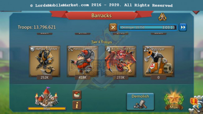 494 All Devices Account 310M – 121M Research – 13M7 Troop – Good Gear – 189$