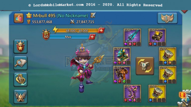 495 All Devices Account 553M – Good War Gear & Hunter Gear – Castle Skin – Too Much RSS – 399$