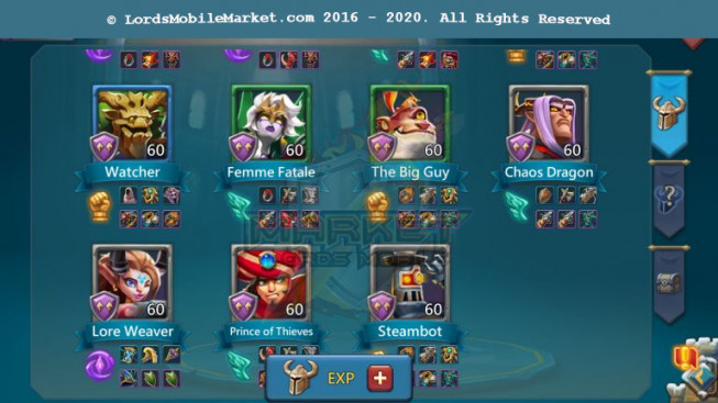 501 All Devices Account 252M – 161M Research – 335K Gems – 69.5K Holy Stars – 149$