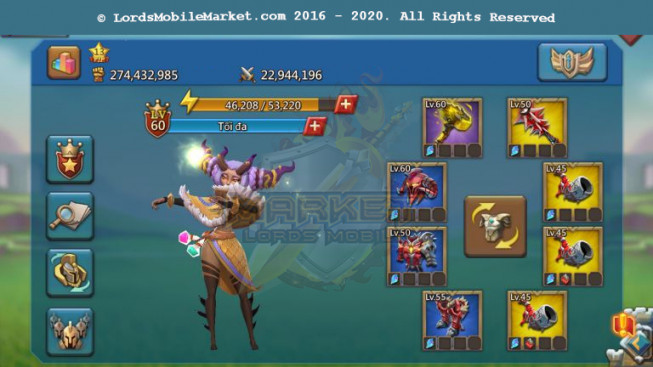 #505 All Devices Account 274M – Perfect Hunter Gear – 163M Research – Castle Skin Frozen Flight – Pact 4 – Too Much Items – 199$