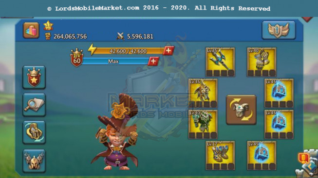 #511 All Devices Account 264M – 137M Research – 3M3 Troop – 130K Holy Stars – 7 Migrations Scroll – Pact 4 – 129$