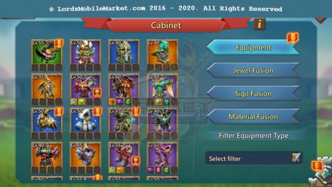 #518 All Devices Account 691M – Hunter Gear Orange + War Gear Perfect – 275K Gems – Gifr Unbliocked – 550$