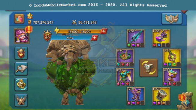 [ Super Sale Off ] #556 Account 707M – 298M Research – 13M Troop – 30 Migrations Scroll – Pact 4 + 5 Great – 449$