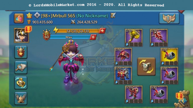[ Super Sale Off ] 565 – Account 903M – 634K Gems – Good War Gear – 273M Research – 30M Troop – Watcher Gold – Too Much Speed Up and Rss – 789$