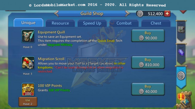 578 Account 512M – 235M Research – 2 Castle Skin – Pact 4 – 3 Migrations Scroll