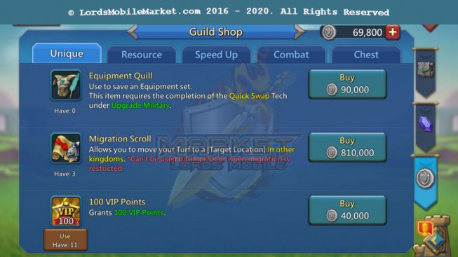 583 Account 307M – 217M Research – 256K Gems – 3 Migrations Scroll