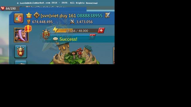 #605 674M ( 12MS Kingdom 434 , 215M Food , 460M Stone , 683M Wood , 1B Ore , 800M Gold )